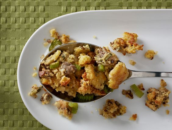 Savory Cornbread Stuffing Recipe with Sausage and Sage | Recipe ...