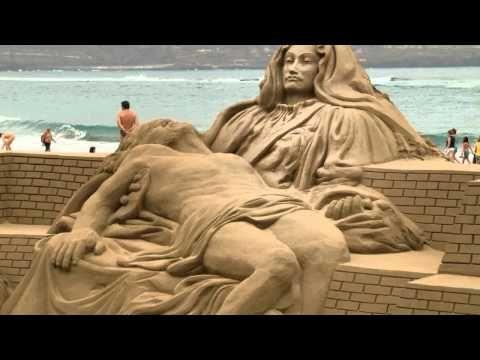 arte con arena de playa de varios concursos y varios festivales, como el de Bélgica.
