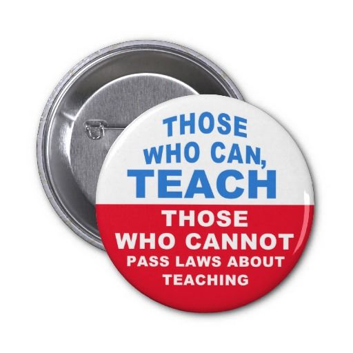 Those who can, Teach, Those who cannot pass Laws Pinback Buttons