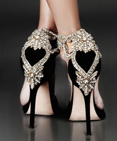 Gorgeous Crystal Back High Heels For Prom | BLING &amp Most Expensive