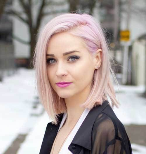 12 Pale Pink Short Hairstyles 2 Pink Short Hair For Girls Pinkhair Shorthair Light Pink Hair Pink Short Hair Hair Color Pink