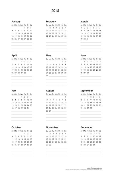 Full Size Planner Word template for 2-year calendar 2015\/2016 - management calendar template