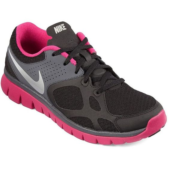 Nike(R) Flex Run Womens Running Shoes ($80) ❤ liked on Polyvore