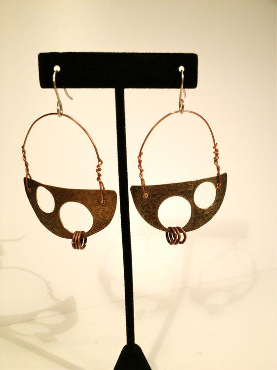 Funky Base Metal Earrings by IdolHandsCreations on Etsy https://www.etsy.com/listing/231341240/funky-base-metal-earrings