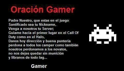 Oración gamer