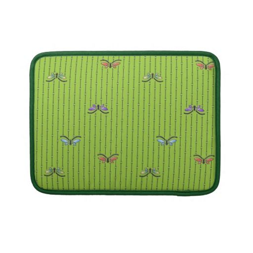 butterflies and bamboo curtain MacBook pro sleeves : Electronics Cases ...