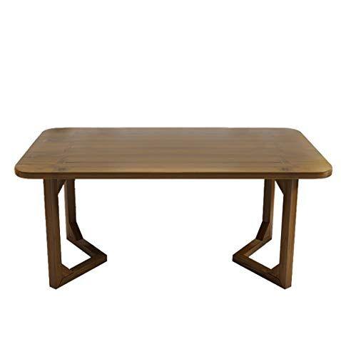 Rectangular Bamboo Coffee Table Living Room Sofa Retro Style End