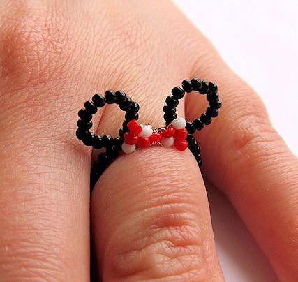 Mickey bead ring