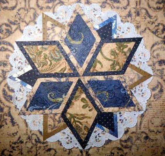 Scrapbook paper quilt block