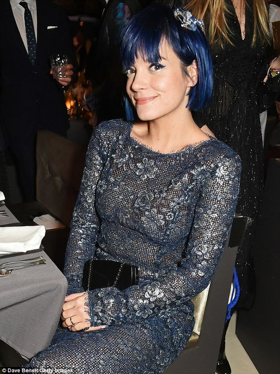 Sitting pretty: The star looked the picture of elegance as she prepared for the glittering...