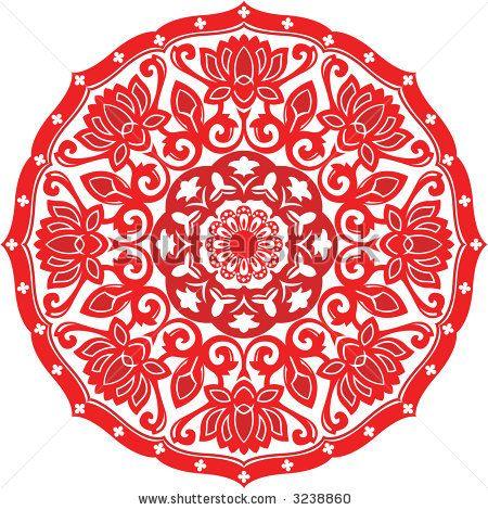 Chinese Paper Cut Design of Chinese Lotus pattern by Seng Kit, via ...