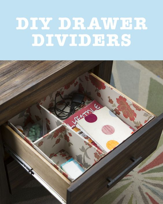 DIY: Turn Your Boxes Into Handy Drawer Dividers to Get Organized