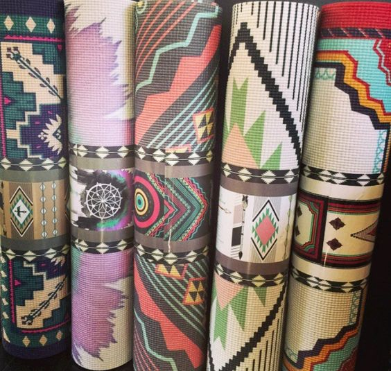 Inspired By Wanderlust! Printed Yoga Mats By La Vie Boheme