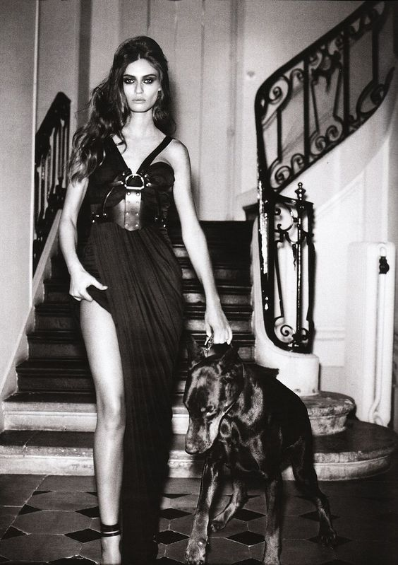 "Bianca Balti in ""Privat Stunde"" by Vincent Peters for Vogue Germany February 2010"