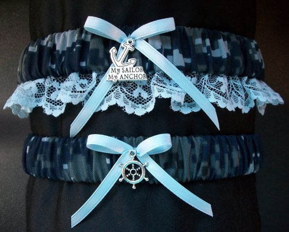United States  Navy camouflage garter set with by CreativeGarters, $24.00