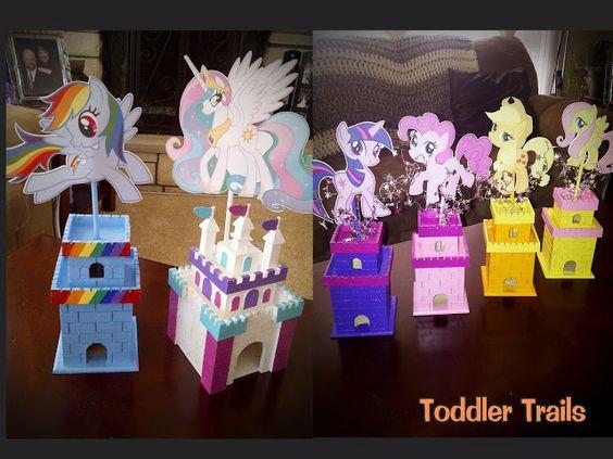 dulceros en papel crepe para nañas de las my little pony girls - Buscar con Google