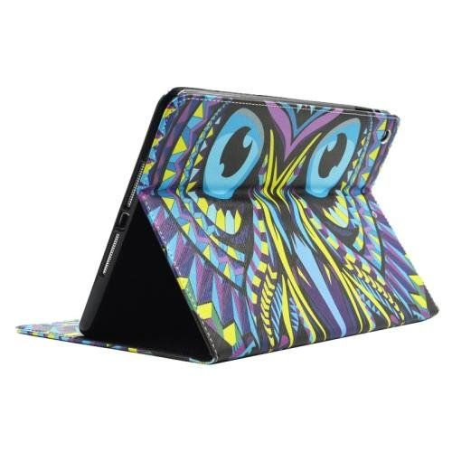 For+iPad+Air/iPad+5+Owl+Smart+Cover+Leather+case+with+Holder,+Card+Slots+&+Wallet