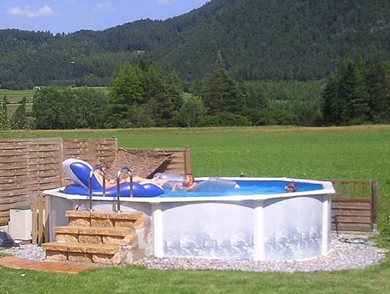 Above ground pool ground pools and pools on pinterest for Above ground house plans