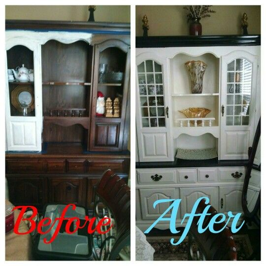 Before & After: DIY Painted Dining Room Hutch