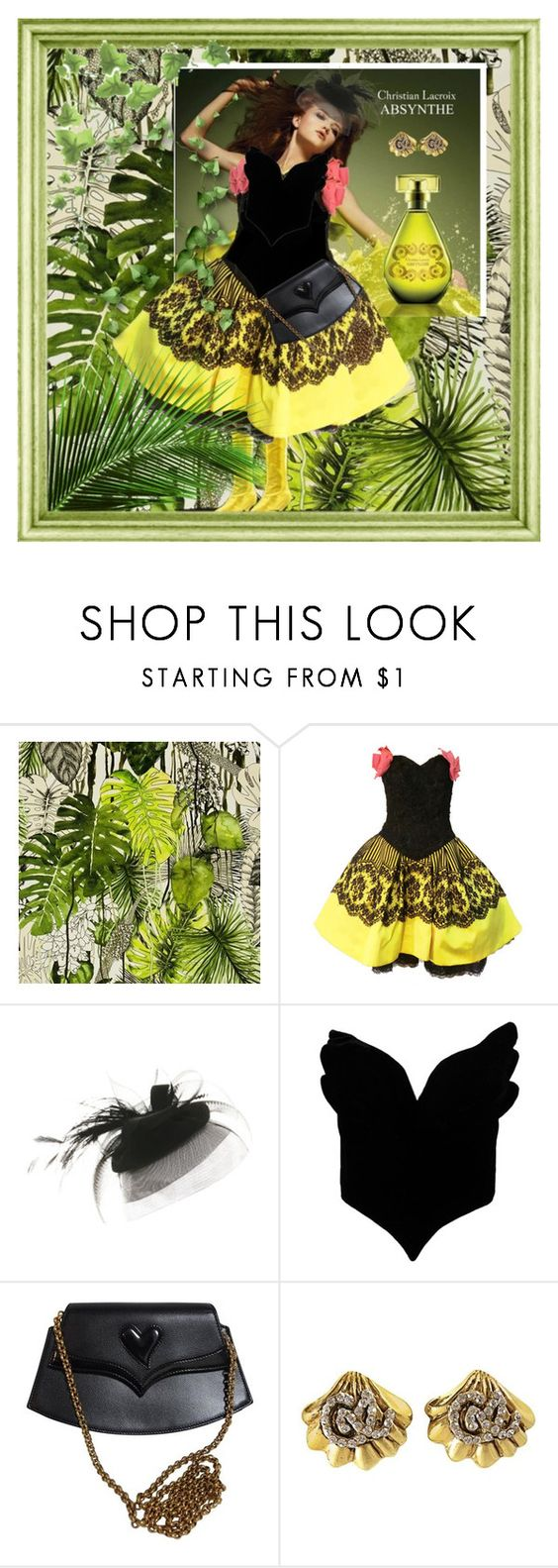 """Sister Christian"" by skailees ❤ liked on Polyvore featuring Christian Lacroix, VIVIER and Thierry Mugler"