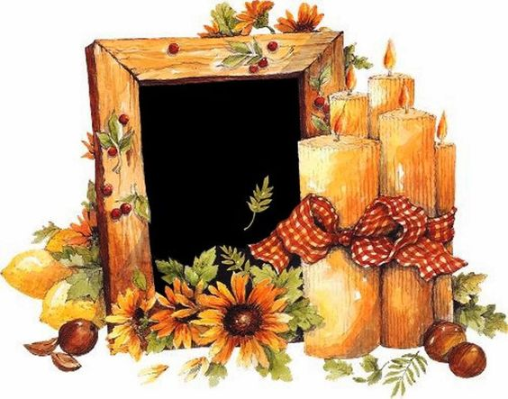 Fall flower frame