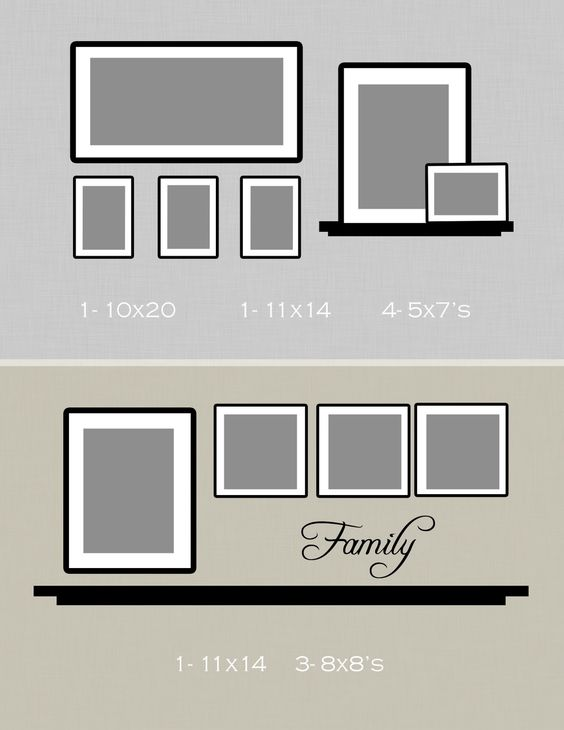 Website is useful for picture hanging ideas. I needed this kind of help! :)