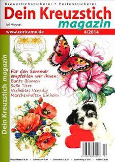 Журналы по вязанию и рукоделию.: Dein Kreuzstich Magazin №4 2014