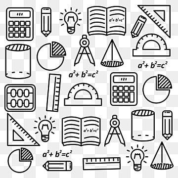 Matematika Karakuli Vektornye Illyustracii S Chernym Dizajnom Linii Podhodit Dlya Fona Nauchnyj Klipart Shkola Narisovannyj Ot Ruki Png I Vektor Png Dlya Besplatno Capas Para Caderno Tumblr Ideias Do Doodle Capa
