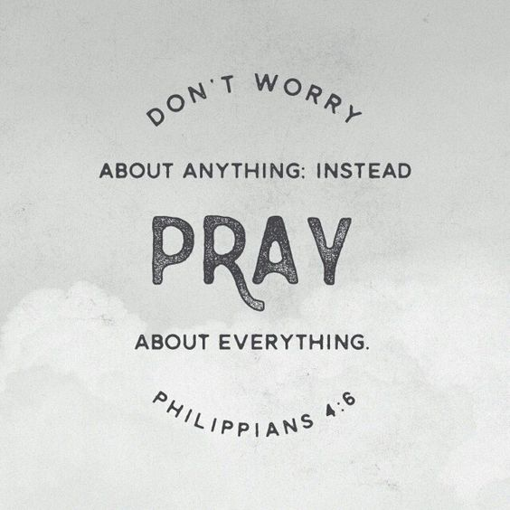Do not be anxious about anything, but in every situation, by prayer and petition, with thanksgiving, present your requests to God. Philippians 4:6:
