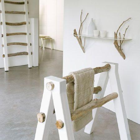 25 ideas originales y económicas para decorar tu casa usando ramas ...