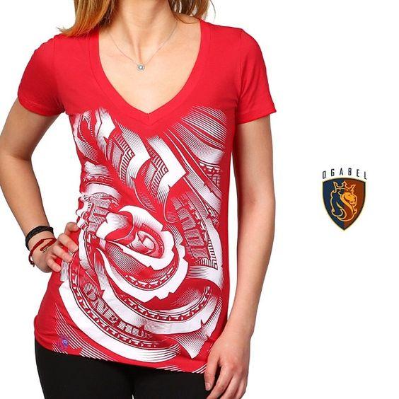 You asked for our #moneyrose Vneck in red, here you go. #ogabel