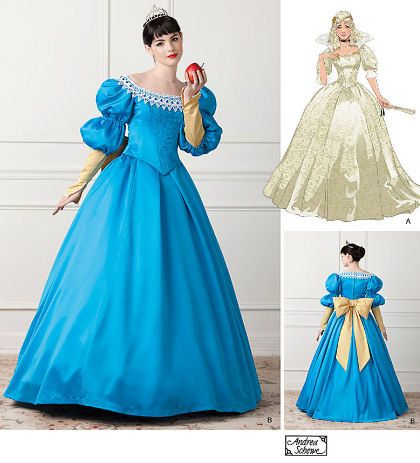Fairytale princess ball gown costume - Simplicity sewing pattern ...