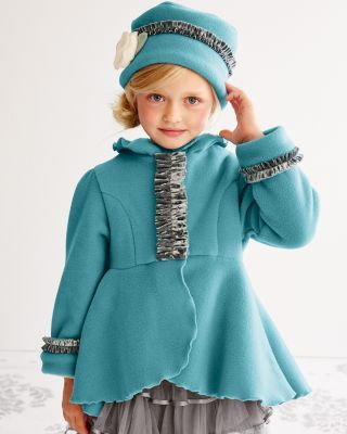 Pretty Fleece Dress Coat and Hat by Mack & Co. - Baby Girls