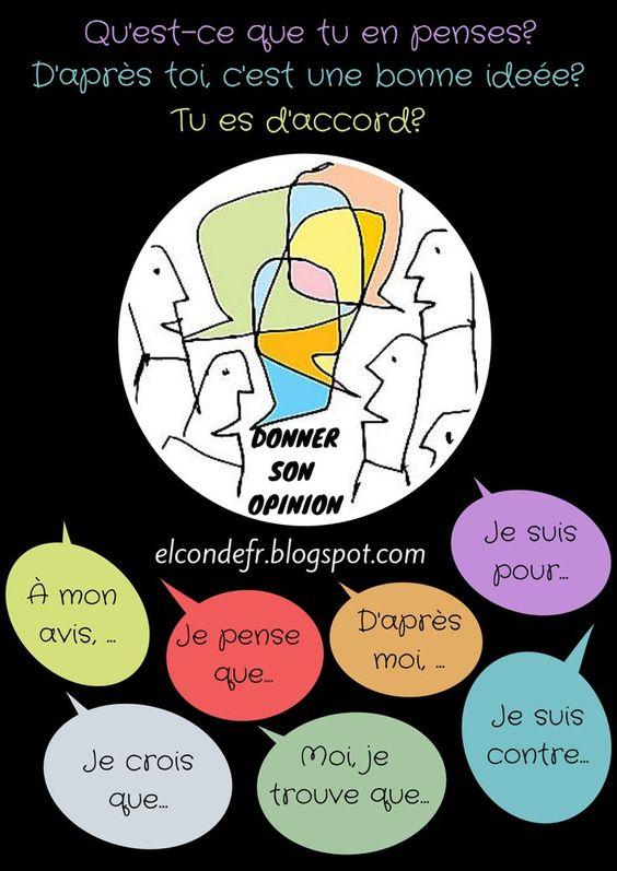 Donner son opinion - des expressions en français pour donner des opinions…: