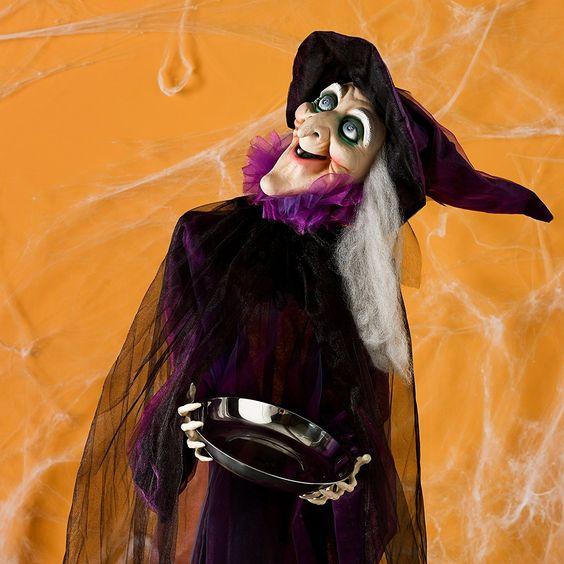 Animierte Halloween Hexe Geräuschaktivierung
