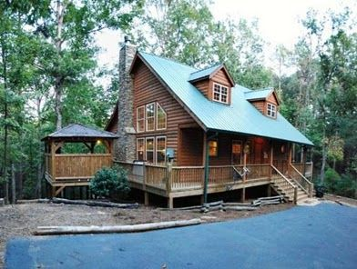 Log Cabins With Hot Tubs Helen Georgia Cabin Rentals