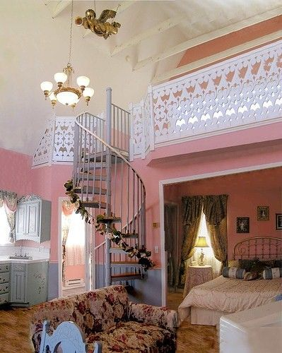 shades of pink and cream