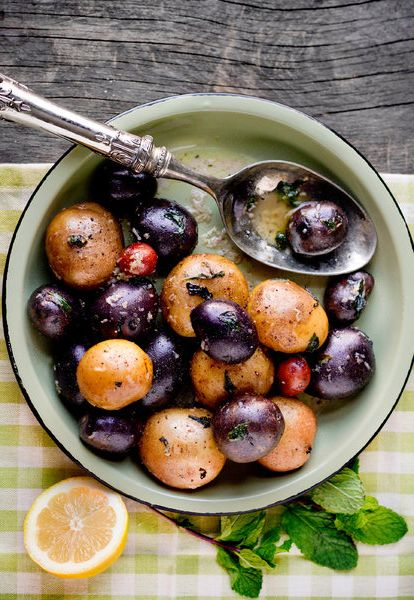 boiled potatoes thickly glazed in butter and brightened with lemon ...