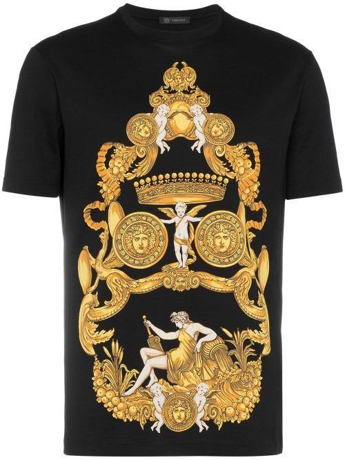 Versace 金色美杜莎印花t恤 Versace Cloth Mens Accessories Fashion Versace Versace Men