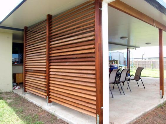 Pergola Grilling Station Deck   Google Search  I Like The Idea Of Slanted  Boards For Privacy Wall. | Outdoor Spaces | Pinterest | Privacy Walls, ...