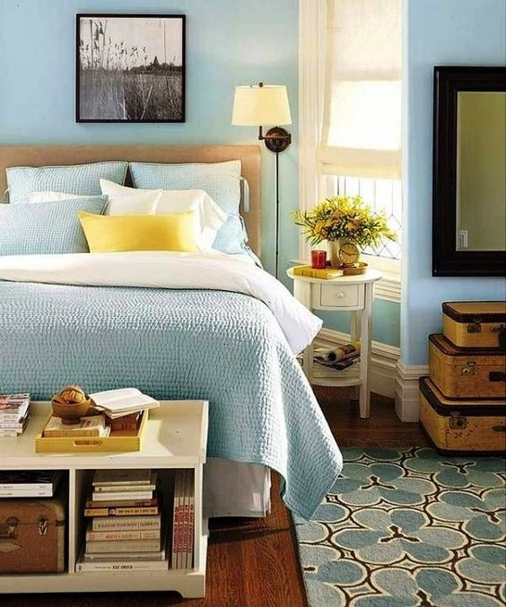 bedroom design light blue walls