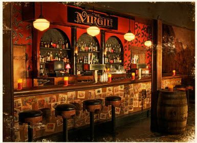 1920 39 S Inspired Basement Bar The Look Of The Postcards Photos On The Bar Wall Virgil