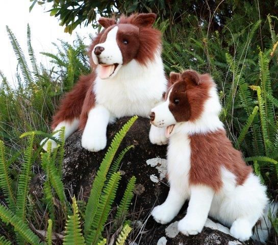 Border Collie Stuffed Dog Toys Collies Brown And White