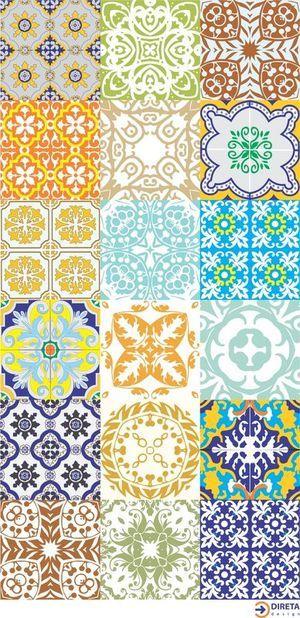 Adesivos imitando azulejos