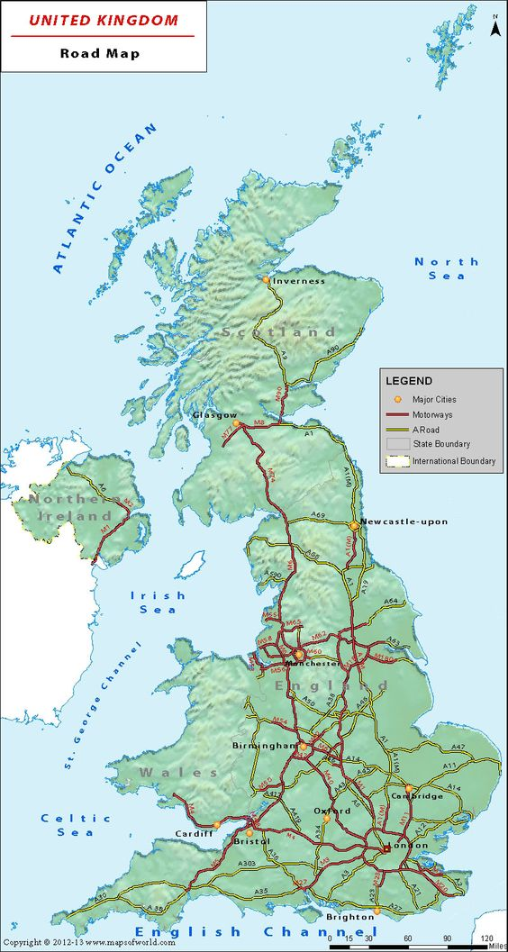 UK road network map is a great companion on roads of United – Road Map Uk