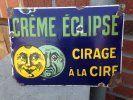 plaque émaillée cirage creme eclipse