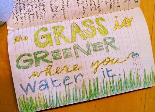 Amen! I need to water my here and now grass!