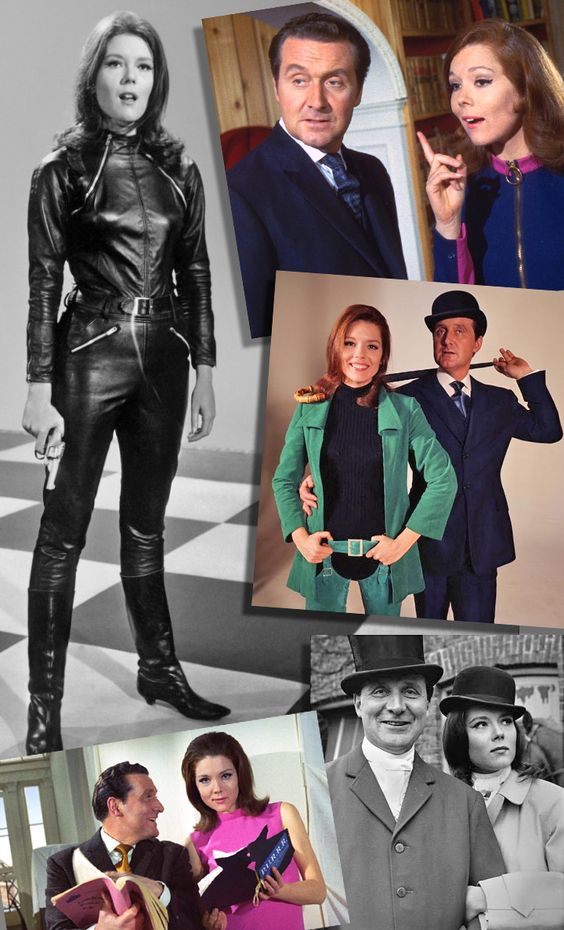 """The Avengers have classic style, for sure! Diana Rigg as """"Mrs. Emma Peel"""" and Patrick Macnee as """"John Steed"""" were a dynamic duo that was (and still is) beloved by millions!"""