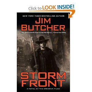 The Dresden Files is one of favorite books series on the shelves today.  Check it out!  This is the first one.    Storm Front by Jim Butcher