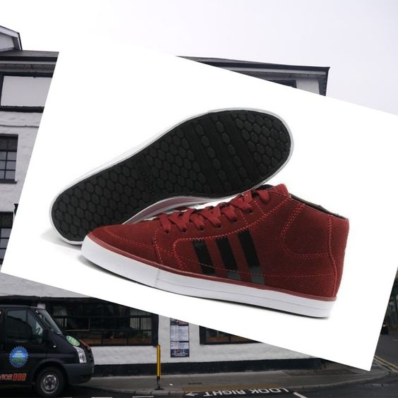 Adidas Adidas Mens Shoes Neo High Burgundy,White,Black to provide a comfortable support perfect coexistence of new sports experience
